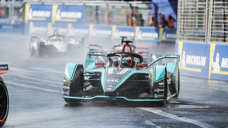 Mitch Evans, who finished fifth in the Formula E championship standings, at the Paris E-Prix.