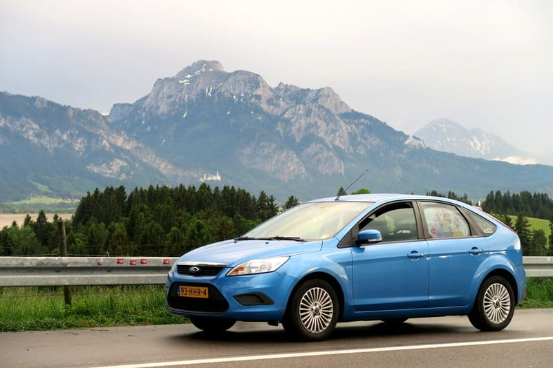 My 2008 Focus on holiday in Germany, with Schloss Neuschwanstein in the background
