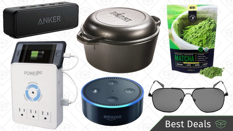 Illustration for article titled Sunday's Best Deals: Matcha, Anker Soundcore 2, Lodge Cast Iron, and More