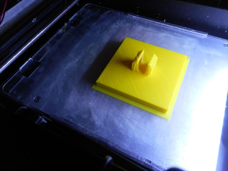 Second prototype with raft adhesion and supports