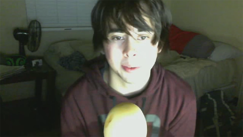 "Leafy, from his ""face reveal"" video"