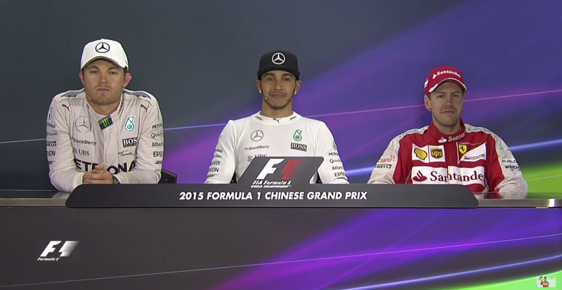 Illustration for article titled Mercedes' Feuding Drivers Make For An Awkward Post-Race Press Conference