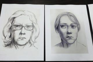 Reconstrucciones de artistas sobre diferentes etapas de Jane Doe. Elizabeth Daley