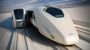 Illustration for article titled Moving platforms let you get on high-speed train while it's still moving