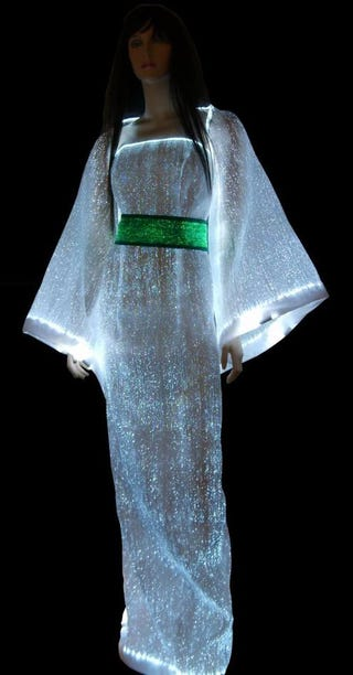 we ponder the social bandwidth of this fiber optic dress