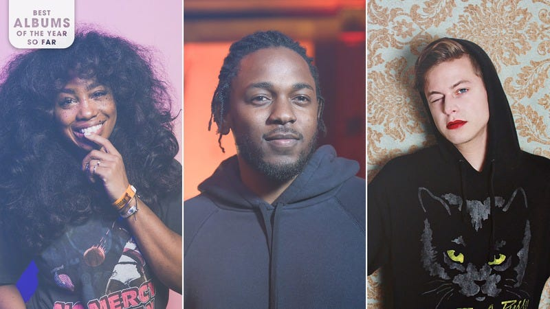 SZA (Photo: Roger Kisby/Getty Images), Kendrick Lamar (Photo: Emma McIntyre/Getty Images for MTV), and Perfume Genius (Photo: Matador Records)