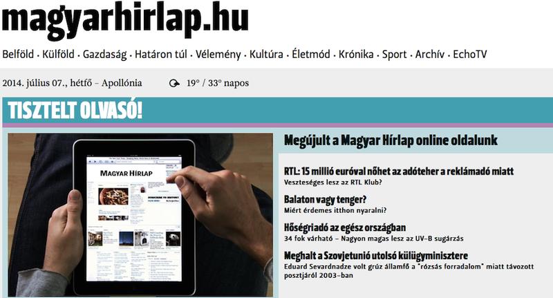 Illustration for article titled Széles Gábor előrelátásának köszönhetően megújult a Magyar Hírlap