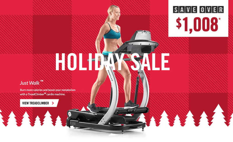 Bowflex Holiday Discounts | Promo code GREATDEALS17 | Includes free shipping