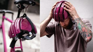 Illustration for article titled Foldable Bike Helmet Stretches to Fit Your Oddly Shaped Head