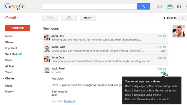 MailTrack, the Extension That Tells You When Someone Reads an Email Message, Is Now on Firefox