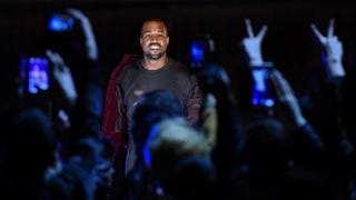 Kanye West performs during a concert in Armenia April 13, 2015.KAREN MINASYAN/AFP/Getty Images