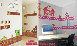 Illustration for article titled Make Your Nerdy House A Nerdy Home With Mario, Donkey Kong Decals