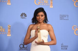 Taraji P. Henson poses with her Golden Globe for best actress in a TV drama for her role in Empire Jan. 10, 2016, in Beverly Hills, Calif. FREDERIC J. BROWN/AFP/Getty Images
