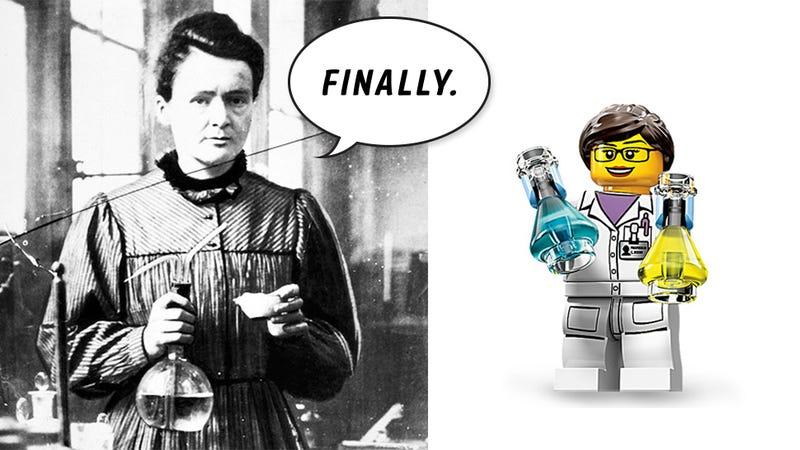 Illustration for article titled Meet the First Female Lego Minifig Scientist