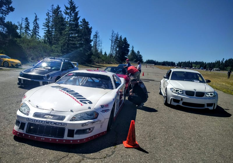 Illustration for article titled Stiff competition at autocross today