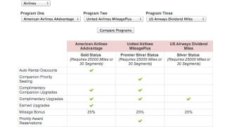 Illustration for article titled StatusMatcher Compares Travel Loyalty Programs and Status Matches