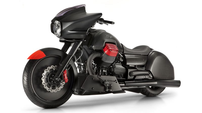 Illustration for article titled Moto Guzzi Made A Carbon Fiber Cruiser That I Might Actually Ride