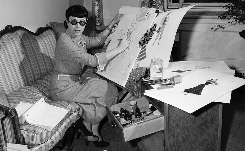 Costume designer Edith Head photographed in 1948, who contributed money to the Dwight Eisenhower presidential campaign in 1952 (AP Photo/Dan Grossi)