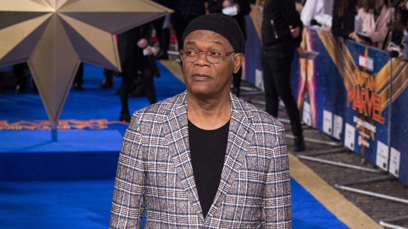 Samuel L. Jackson attends the 'Captain Marvel European Gala' on February 27, 2019 in London, England.