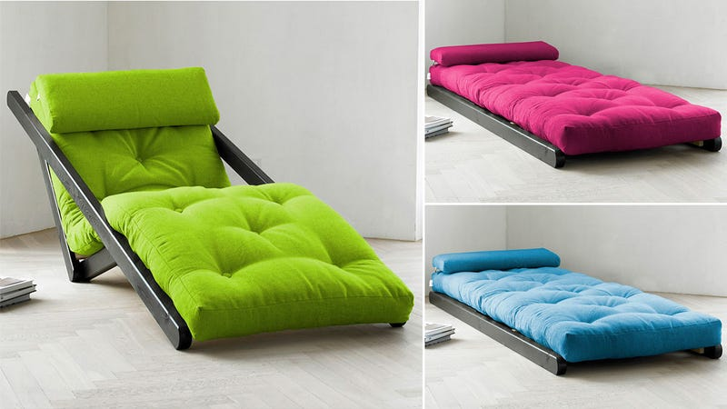 Goodbye Ugly Futons A Laid Back Lounger That Transforms To Sleep One