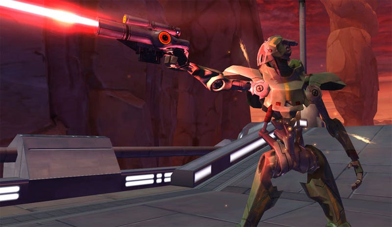 Illustration for article titled Old Republic Screens, Concept Art Eschew Giant Lightsabers In Favor Of Robots, Spacious Interiors