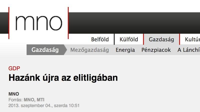 Illustration for article titled A Magyar Nemzet Online elhozta a nap legvidámabb hírét