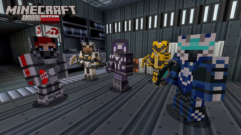 Illustration for article titled Minecraft Xbox 360 Getting Mass Effect Mash-Up DLC