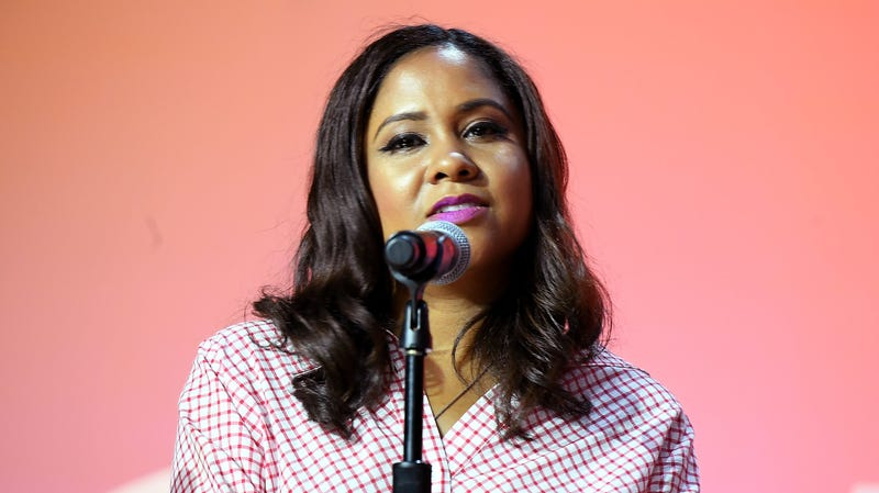 Angela Yee speaks onstage during the 2018 Essence Festival presented by Coca-Cola on July 6, 2018 in New Orleans, Louisiana.