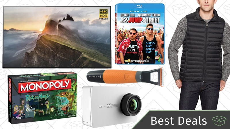 Illustration for article titled Saturday's Best Deals: OLED TVs, AmazonBasics Outerwear, B2G1 Free Movies, and More