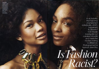 Illustration for article titled Vogue's Not Racist; Three Black Models Prove It!