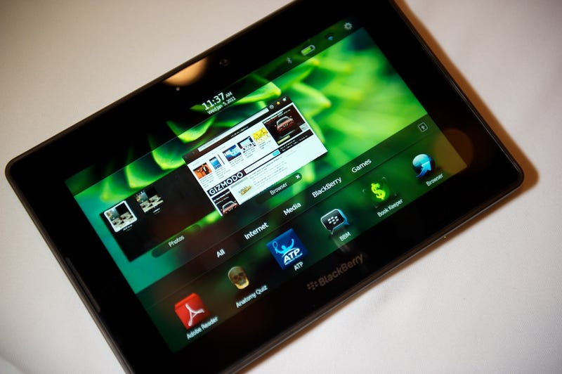 Illustration for article titled RIM's BlackBerry PlayBook Tablet May Run Android Apps?