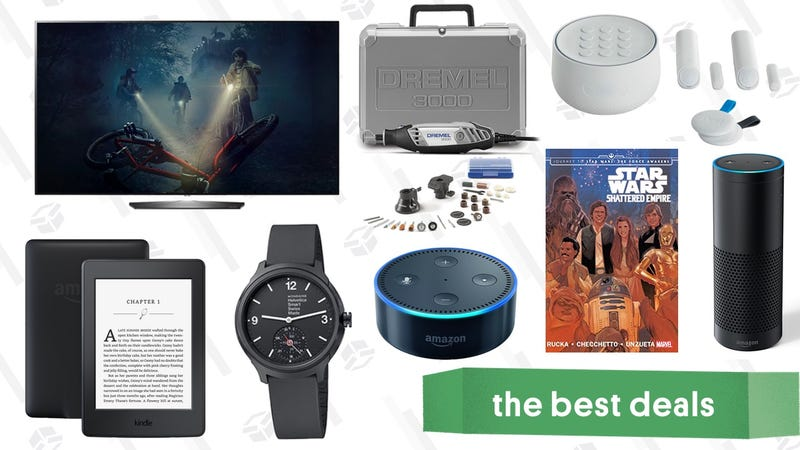 Illustration for article titled Wednesday's Best Deals: OLED TVs, Cheap Kindles, Discounted Dremel, and More
