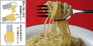 Illustration for article titled Japanese Pasta Fork Will Change How You Eat Pasta Forever