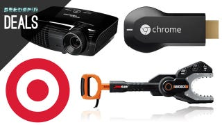 Illustration for article titled Deals: $10 off $40 at Target, the Ultimate Home Theater, Worx JawSaw