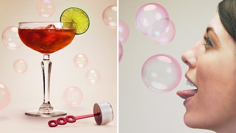 Illustration for article titled Cleverly Smuggle Booze By Turning it Into Edible Bubbles