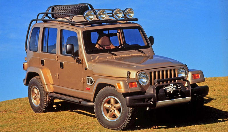 The Jeep Dakar was a 1997 concept. Of course a four-door Wrangler wasn't made for mass consumption until a decade later. (All images: FCA)