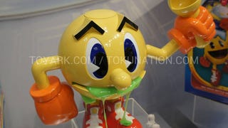 The new amazing video game toy. Apparently. Vomiting Pac-Man. I am confused.