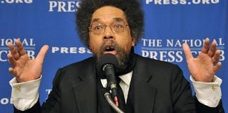 Professor Cornel West speaks at an event. (Getty Images)