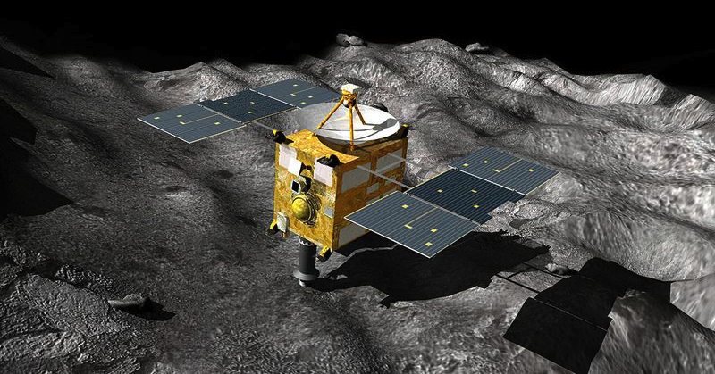 Illustration for article titled Japan's Decade-Long Mission to Mine an Asteroid