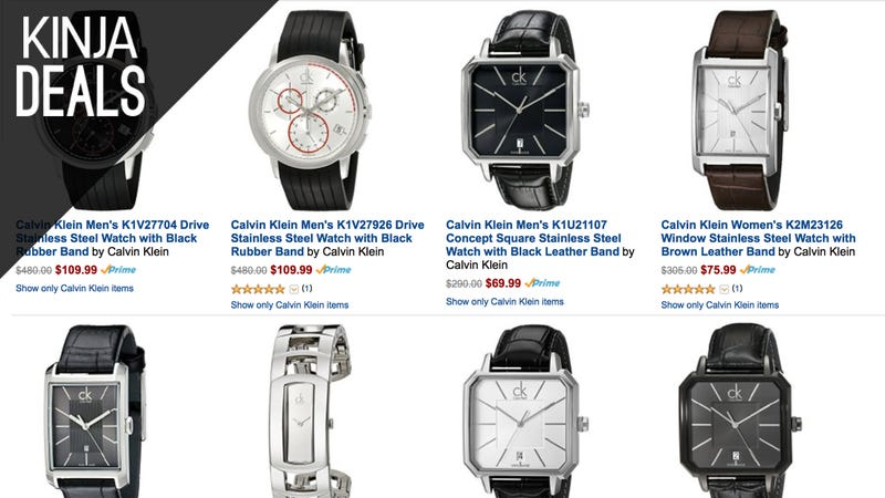 Illustration for article titled Not Into Smartwatches? Grab a Discounted Calvin Klein Timepiece Today.