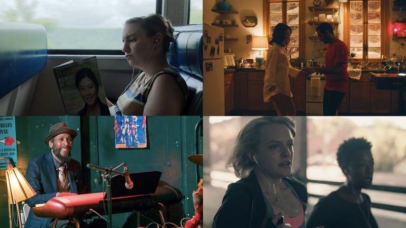 Girls (Screenshot: Girls/HBO), Master Of None (Photo: Netflix), This Is Us (Photo: Ron Batzdorff/NBC), and The Handmaid's Tale (Screenshot: Handmaid's Tale/Hulu)
