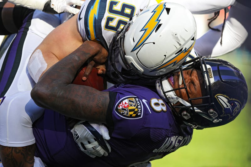 """Illustration for article titled The Chargers Smothered The Ravens With An """"Insane"""" Game Plan"""