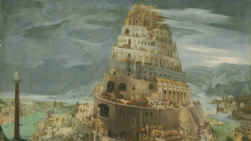 Illustration for article titled Humanity Could Totally Pull Off The Tower Of Babel At This Point
