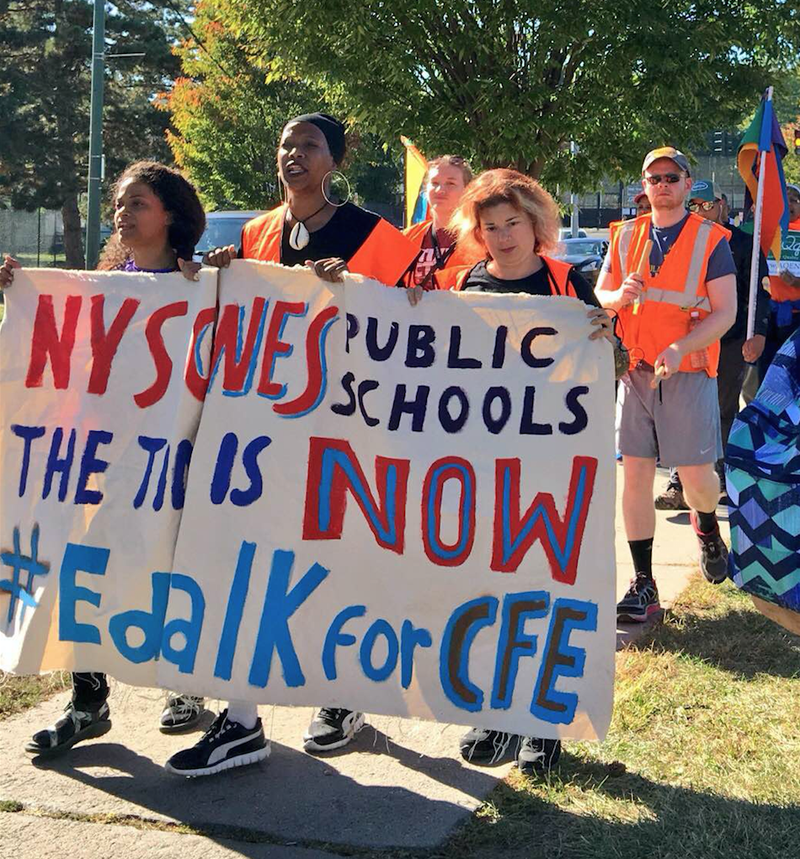 #EdWalk4CFE is one of the hundreds of demonstrations that called for adequate funding as part of a nationwide alliance coordinated by the Alliance to Reclaim Our Schools. Chad Raddock Alliance for Quality Education