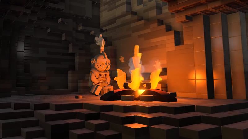 Illustration for article titled A Fan Recreated Dark Souls In A Lego Game