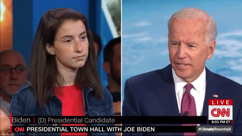 Illustration for article titled And Here We Have a 19-Year-Old Climate Activist Treating Joe Biden With Abject Skepticism [UPDATED]