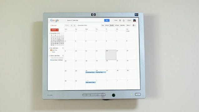 mount a raspberry pi powered google calendar on your wall. Black Bedroom Furniture Sets. Home Design Ideas