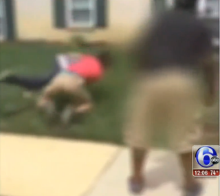 Footage from the video taken of two Delaware teens beating a man with disabilitiesABC6 screenshot