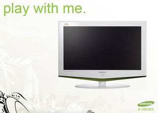 Illustration for article titled This Samsung Xbox 360 TV Looks Fake (But It's Not A Bad Idea)