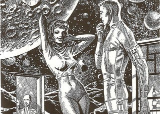 Illustration for article titled Caption This Classic Wally Wood Illustration